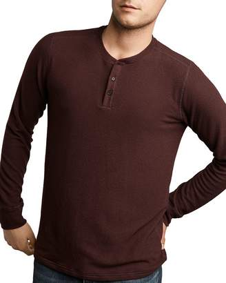 Velvet by Graham & Spencer Velvet Faust Heathered Long Sleeve Henley Tee