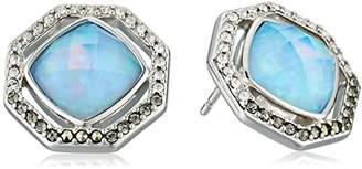 Judith Jack Sterling Silver and Opal Stud Earrings