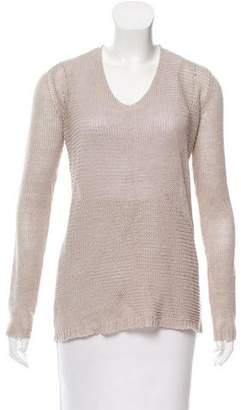 Theory Open Knit V-Neck Sweater