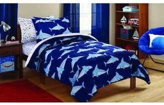 Mainstays Kids Sharks Coordinated Bed in a Bag Complete Bedding Set