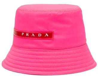 Prada Linea Rossa Logo Bucket Hat - Womens - Pink