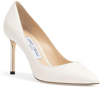 f7203e1b3e02 at Savannahs · Jimmy Choo Romy 85 Chalk Leather Pumps