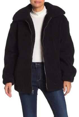 GUESS Teddy Bear Faux Fur Jacket