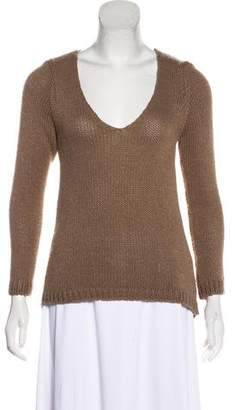 Etoile Isabel Marant Patterned Knit V-Neck Sweater