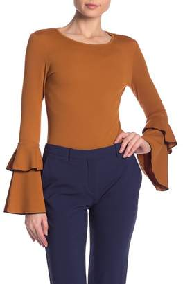 ALLISON NEW YORK Flare Sleeve Knit Blouse