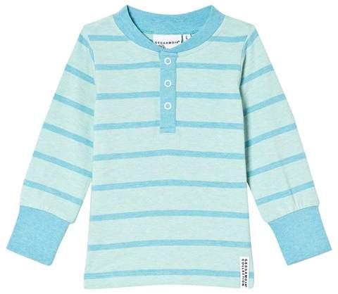 Geggamoja Turquoise Stripe Grandpa Sweater