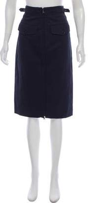 Prada Sport Knee-Length Two-Way Zip Skirt