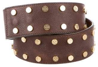 Tory Burch Logo Studded Belt