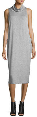 Eileen Fisher Cowl-Neck Sleeveless Knit Dress, Plus Size