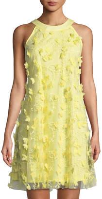 Jax 3-D Floral Trapeze Dress