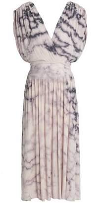 Kain Label Wrap-Effect Crinkled-Gauze Midi Dress