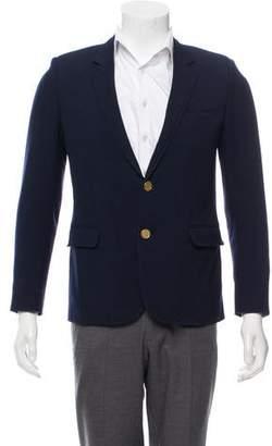 Saint Laurent Silk-Lined Virgin Wool Blazer