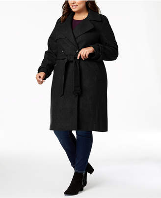 DKNY Plus Size Double-Breasted Coat