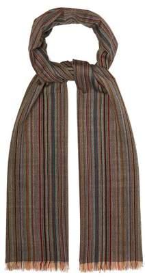 Paul Smith Signature Stripe Wool Scarf - Mens - Multi