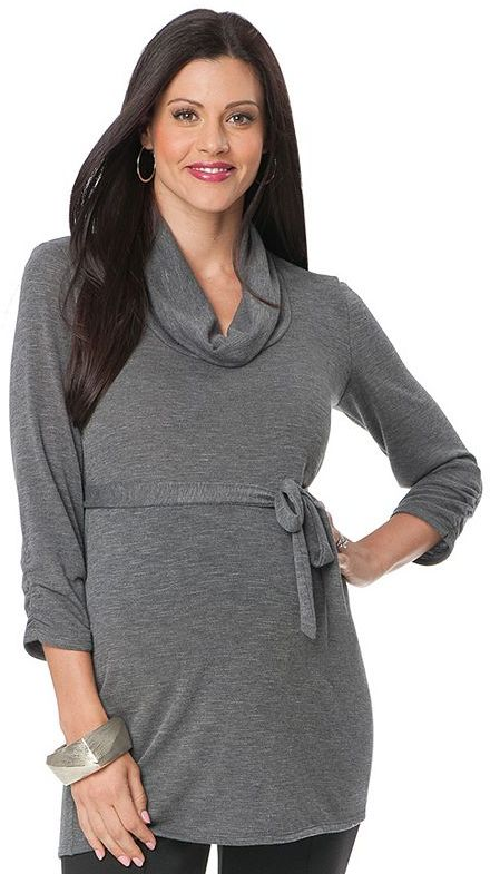 Oh Baby by motherhood ruched cowlneck tunic - maternity