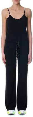 Dondup Black Jumpsuit With Logoed Drawstring