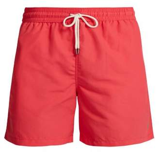 Polo Ralph Lauren Logo Embroidered Swim Shorts - Mens - Red