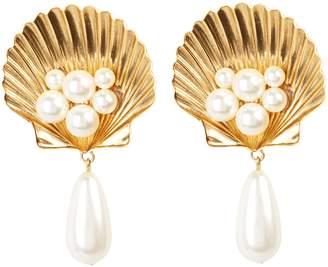 Jennifer Behr Positano Shell Clip-On Earrings