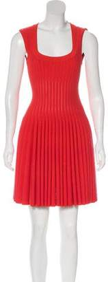 Alaia Mini Fit And Flare Dress