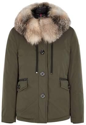 Moncler Malus Fur-trimmed Shell Jacket