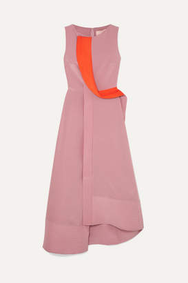 Roksanda Two-tone Silk-crepe Maxi Dress - Pink