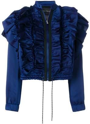 Christian Pellizzari frill bomber jacket