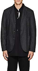 Barena Venezia Men's Fine-Gauge Knit Three-Button Sportcoat-Gray