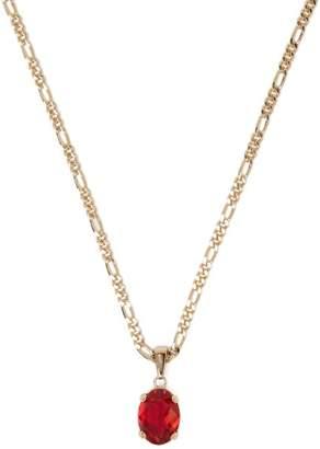 Alexander McQueen Swarovski Pendant Necklace - Mens - Gold