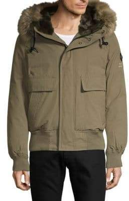 Jet Lag Faux Fur-Trimmed Hooded Jacket