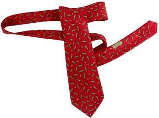Hermes Vintage Red Silk Ties