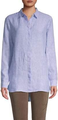 Pure Navy Classic Button Down Linen Shirt