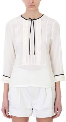 Marc Jacobs Beige Silk Classic Design Blouse