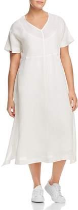 Marina Rinaldi Dedicare Button-Detail Midi Dress