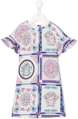 Versace short-sleeve printed dress