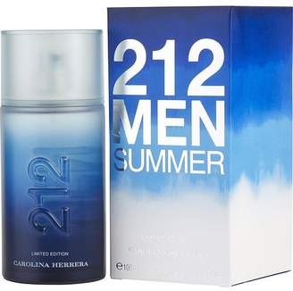 Carolina Herrera 212 SUMMER by EDT SPRAY 3.4 OZ (LIMITED EDITION 2013) for MEN -(Package Of 3)