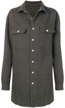 Rick Owens press stud coat
