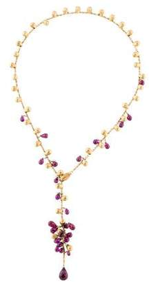 Marco Bicego 18K Gold and Garnet Lariat Necklace