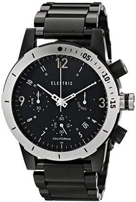 Electric Men's EW0020010016 FW02 Stainless Steel Band Analog Display Japanese Quartz Black Watch