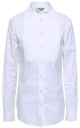 Moschino Pleated Cotton-blend Poplin Shirt