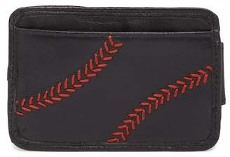 Rawlings Sports Accessories Baseball Stitch Leather Card Holder