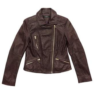 Hallhuber Burgundy Leather Jackets