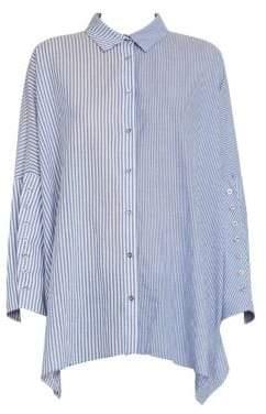 Marques Almeida Marques'Almeida Stripe Long-Cuff Button-Down Shirt