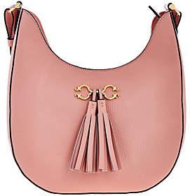 C. WonderAs Is C. Wonder Pebble Leather Hobo Handbag w/Hrdwr & Tassel Detail