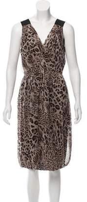Robert Rodriguez Silk Sleeveless Knee-Length Dress