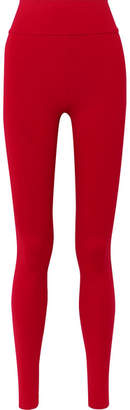 Live The Process - Tuxedo Stretch-supplex Leggings - Red