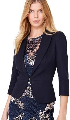 Damsel in a Dress Blue Wilton Peplum Jacket