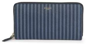 Givenchy SLG Striped Leather Zip-Around Wallet