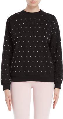 Giamba Black Star Studded Fleece Sweatshirt