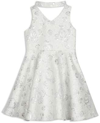 Pippa & Julie Girls' GiGi Floral Jacquard Dress - Big Kid