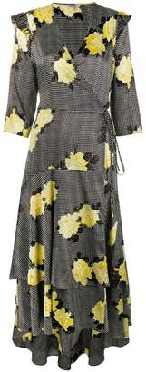 Ganni floral flared dress